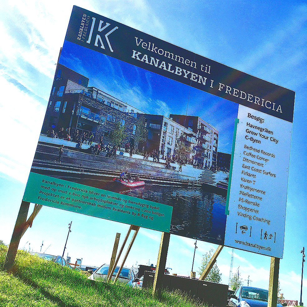 reklame for kanalbyen Fredericia place to live
